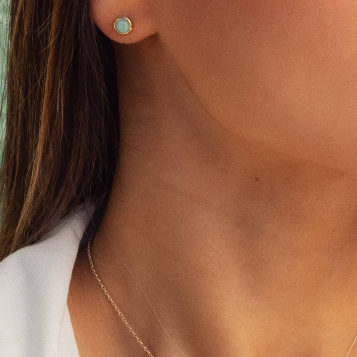 Gold-plated amazonite Aria earrings