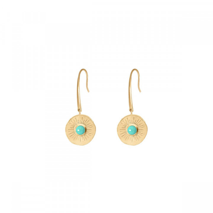 Gold-plated amazonite Clio earrings
