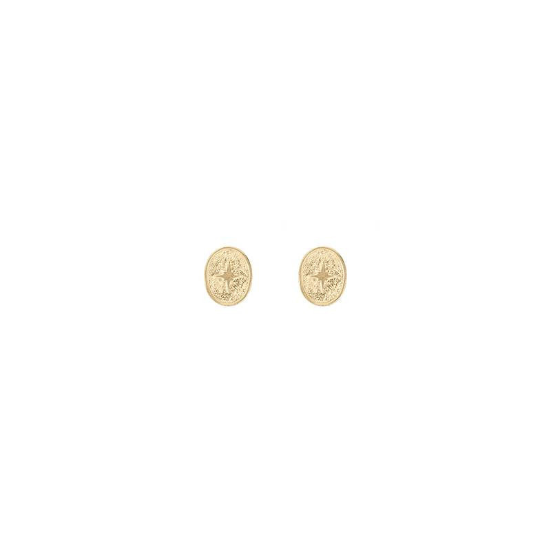 Gold-plated star stud earrings