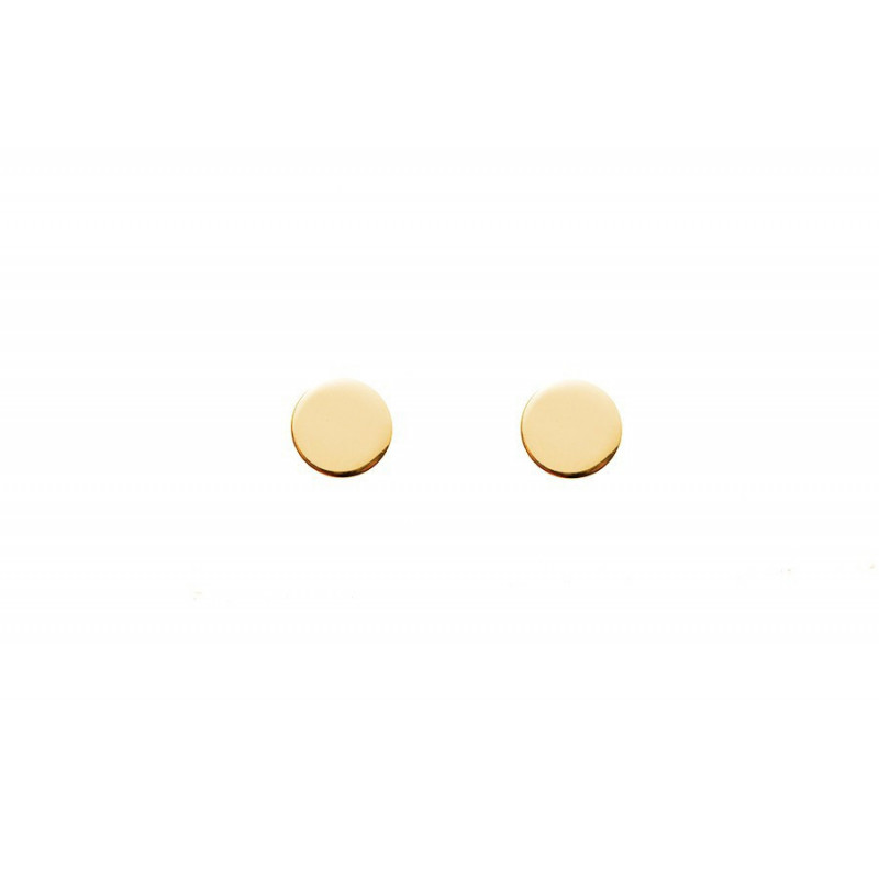 Small round stud earring