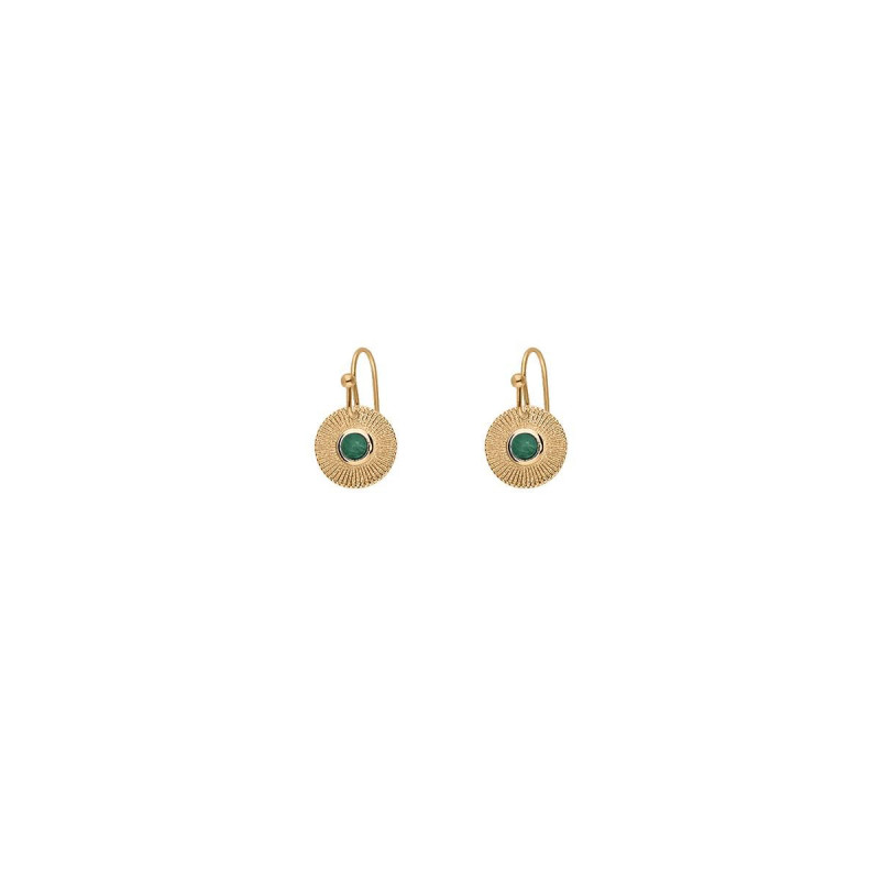 Gold-plated earrings with Hylas medal