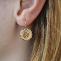 Gold-plated Gaia earrings