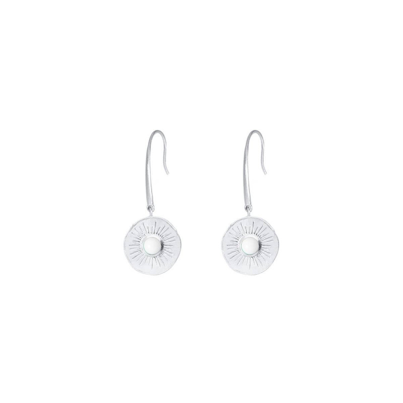 925 Silver white turquoise Clio earrings
