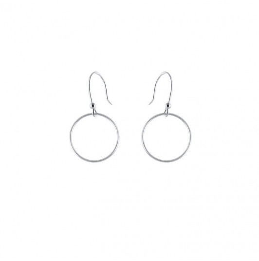 French hook hoop earrings