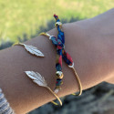 Bracelet jonc cordon liberty en plaqué or