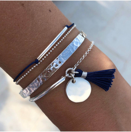 Blue sea bracelet trio